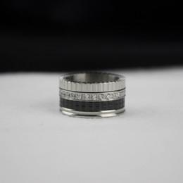 bijoux en céramique Promotion Pt950 Platinum Mens Diamant Naturel Large Anneaux Bohème Céramique Anneau Charmes Cadeaux pour Hommes Beaux Bijoux De Mariage