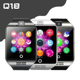 reloj inteligente con reloj inteligente cámara Q18 reloj Sports Tracker ranura para tarjetas SIM Bluetooth actividad física TF para Android desde fabricantes