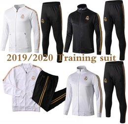 Survêtements complets en Ligne-2019/2020 Real Madrid Tracksuit Soccer Jacket Full Zipper Tracksuit 2019 Real Madrid Maillot de Foot Risque ISCO Jersey Tracksuit