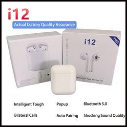 Canada Casque sans fil i12 TWS Bluetooth 5.0 prise en charge de la fenêtre contextuelle Écouteurs oreillettes colorées avec contrôle tactile Offre
