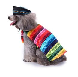 Grande stella di natale online-Funny Dog Cat Halloween Xmas Costumi Cosplay Star Striped Skull Cosplay Suit Pet Abbigliamento Natale Festa di compleanno vestiti per Puppy Dog
