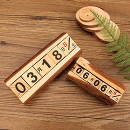 mechanische uhrkits Rabatt Kreativer Kiefer burlywood manuelle hölzerner Kalender fertigt Hauptdekoration handgemachte pastorale Art, die Stützenreize-Memogeschenke handgemacht