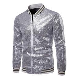 8ab61e9c7ed0 dance outfits men Promo Codes - Men Coats Fashion Sequins Shiny Jackets New  Man Party Bar