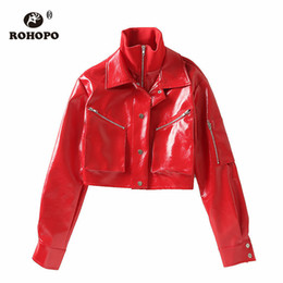 buy online 66633 f8098 Sconto Donne In Pelle Rossa Con Bomber | 2019 Donne In Pelle ...