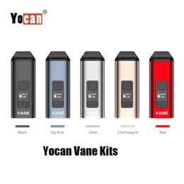 Kit penna vape a base di erbe online-Authentic YoCan Vane Vane Vaporizer 1100mAh Dry Herb Kit Aspativo a base di erbe Dispositivo regolabile Dispositivo di riscaldamento in ceramica con display OLED Penna Vape