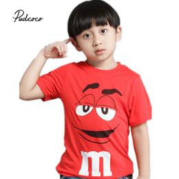 Pudcoco Baby Boys Модная одежда 1 шт. Мультипликационный персонаж смесь хлопка Red Baby Boys Девушки с коротким о-образным вырезом от