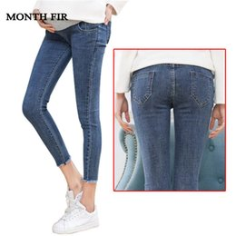 47e90c859a48f Maternity Clothes Elastic Soft Maternity Jeans Skinny Pregnancy Pants  Lovely Trousers For Pregnant Women Spring Summer Clothing Y19052003