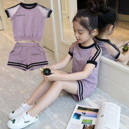nuove ragazze alla moda dei vestiti Sconti Girls set 2019 Summer Suit 4 New 5 Children Dress 6 Girls 7 Fashion 8 Gas 9 Abbigliamento Marea Bambino di 10 anni