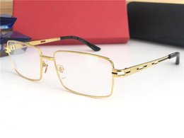 5dd8516ad8 New Luxury Designer Optical Glasses CT8200811 Classic Square Frame Optical  Shiny gold Titanium Frame Eyewear Top Quality Come With case