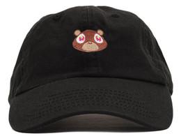 osos bordados Rebajas gorra de béisbol 100% tapas de diseño clásico de algodón llevan sombreros de bordado para los hombres 6 Panel Negro snapback del sombrero de los hombres Gorras de visera informal casquette hueso