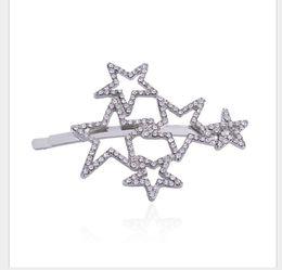 diadema de plástico para niñas grandes accesorios para el cabello Rebajas Moda tamaño Pentágono aleación de aleación horquilla niña moda coreana exquisita joyería del pelo del diamante