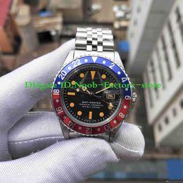 Часы онлайн-Новый Лучший BP Factory Edition R-GMT Ref 1675 2813 Механизм Vintage Урожай Автоматическое движение Кристалл Классический Застежка красно-синий Рамка Антикварные Мужские Часы