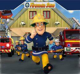 8x8ft foto sullo sfondo Sconti 8x8FT Fireman Sam Firefighter Engine Headquater Sfondo personalizzato Photo Studio Fondali in vinile 240cm x 240cm