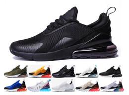 3c89324a5e2e Nike Air Max 270 Chaussures air 270 Trainer Cushion Chaussures de course  triple Hommes Femmes Noir Blanc presto Sport Shock Marche Randonnée air 270  ...