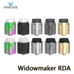 Auténtico rda vape online-Vandy Vape Widowmaker RDA Tank 3 tapas de flujo de aire ajustables con seis modos diferentes Atomizador A prueba de fugas VandyVape 100% auténtico