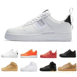 9b3ff116 2019 Nike Air force 1 one Utility Red 1 Dunk Casual Shoes Black White Just  Orange Wheat Mujer Hombre Zapatillas de deporte High Low Cut Zapatillas ...