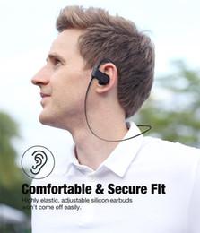 A8 auricolare bluetooth online-riduzione del rumore impermeabile auricolare senza fili della cuffia di sport A8 Bluetooth auricolare Bluetooth con microfono per Android iOS