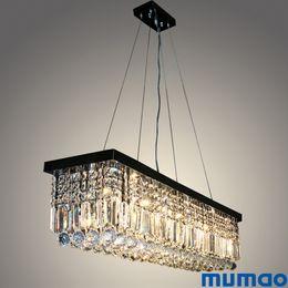 2019 lampara moderna tom dixon Candelabros de cristal modernos Rectangular LED luces colgantes de interior Art Deco Lámparas accesorios de iluminación para comedor sala de estar Hotel