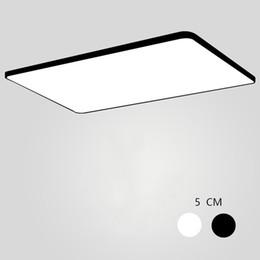 2019 farbe wechselbares glas ultradünne quadratische LED-Deckenbeleuchtung Deckenleuchten für das Wohnzimmer Kronleuchter für die Halle moderne Lampe 90-265V