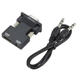 2019 digital-wandler-box hdmi 1080P HDMI zu VGA Adapter Digital zu Analog Audio Video Converter Kabel für PC Laptop TV Box Projektor günstig digital-wandler-box hdmi