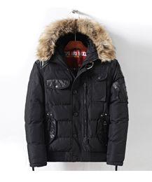 homens laranja trincheira Desconto homens casaco grosso curto estofamento pele grande com roupas de inverno pu