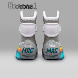 chaussures de basket kobe haute Promotion Nike Air Mag Marty McFly Top Air Mag Retour vers le futur Mcfly Led hommes vers le futur Basketball Hommes Chaussures éclairage Led Marty McFly Mag Sneakers Casual