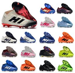 nuovi stivali messi Sconti Nuovo Nemeziz 18.1 18+ FG Archetic Messi Mens 18 + x Scarpe da calcio Agility Bandage Spectral Mode Soccer Boots Taglie Taglia US6.5-11