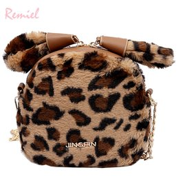 42e27253db 2019 Winter Fashion New Leopard Female Bag Quality Soft Plush Women s  Designer Handbag Cute Ear Chain Shoulder Messenger Bags discount designer  winter ...