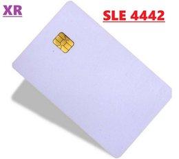 2020 cópia do pvc do cartão À venda! 500pcs / lot. Cartão SLE4442 chip de contato inteligente IC Big Chip SLE4442 CONTACTAR CHIP SMART CARD PVC, Aceitar Printing. por DHL cópia do pvc do cartão barato