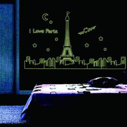 Canada paris night tour eiffel decoration lumineux stickers muraux accueil salon chambre stickers deco lueur dans le noir cheap eiffel towers decorations Offre