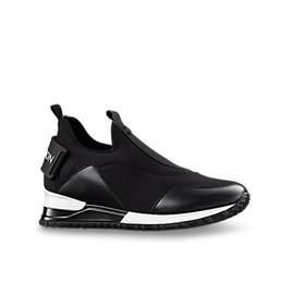 Argentina Zapatillas Slip-on Slip-on de estilo running de la marca NEWEST que incrementan la altura de Paris Designer Women Run Way Tela técnica Zapatillas deportivas cheap fabric running shoes Suministro