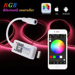 controlador de 12v cc Rebajas DC 12V Mini WIFI LED RGB Controlador 4 canales Bluetooth RGBW Led controlador APP para 5050 3528 RGB / RGBW LED luz de tira