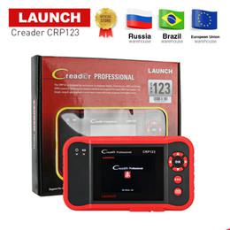 LANZAMIENTO professtional Creader CRP123 Lector de código OBD2 Herramienta de escaneo 3.5 'TFT LCD dIsplay X431 CRP123 herramienta de escaneo de diagnóstico actualización gratuita desde fabricantes