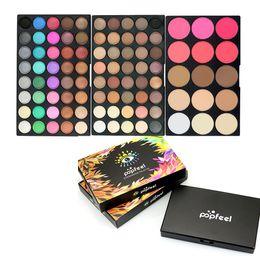 Paleta de sombras de ojos de 95 colores Color de sombra de ojos con rubor de tres capas Disco de sombras de ojos Bandeja profesional de maquillaje GGA1803 desde fabricantes