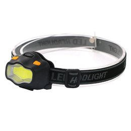 rechargeable headlamp red Promo Codes - ZHISHUNJIA YH-6889 COB White + Red LED Dual Light Glare Headlight (3xAAA)