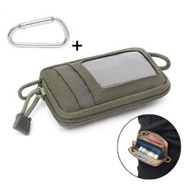 Bolso verde del ejército online-Monedero Monedero exterior táctico tarjeta Molle clave de bolsillo colgante de la moneda del ejército bolsa verde