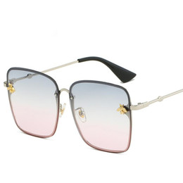 Gafas de sol cuadradas para mujer rosa gris azul negro lente transparente Gafas de sol para mujer Gafas de sol pequeñas de Hip Hop De Sol desde fabricantes