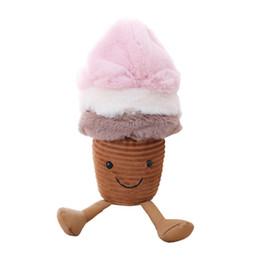2019 niedliche gefüllte affen großhandel Kreative Eis Puppe Snack Super Weiche Kurze Plüschtier Kind Geburtstagsgeschenk 3 größe Cosplay Plüsch Puppen Spielzeug Kinder