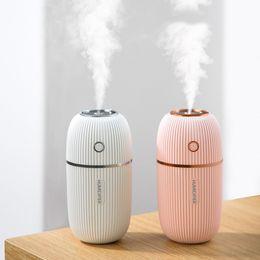 160ml Mango Humidifier Mini Ultrasonic Humidifiers Led Night Light USB Essential Oil Aroma Diffuser Car Air freshener
