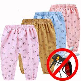 12 meses ropa de marcas para niños Rebajas Pantalones largos para bebés Niño niña Pantalones de impresión informal Moda Niño Niño Pantalones anchos de pierna Niños de verano Pantalones anti-mosquitos