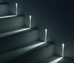 luzes de passo modernas Desconto Embutida LED 3W Stair Luz Retângulo AC100-240V parede interior levou Sconce iluminação Escadas Passo escada Corredor escada lâmpada