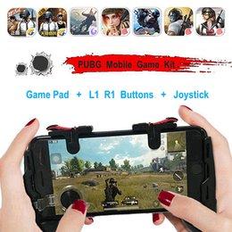 2019 jogos de joystick 4 em 1 PUBG Controlador Moible Gamepad Grátis L1 R1 Acionadores de Jogo Móvel Pad Aderência L1R1 Joystick para iPhone Android telefone desconto jogos de joystick