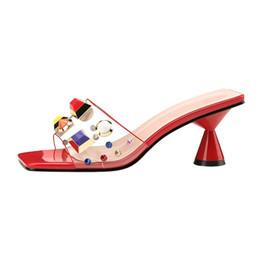 Preços baixos de salto alto on-line-Menor preço! Estilo verão Sapatos de Salto Alto Sandálias Femininas Dedo Do Pé Aberto Transparente De Alta-salto alto Sexy Praia Moda Chinelos Mulheres