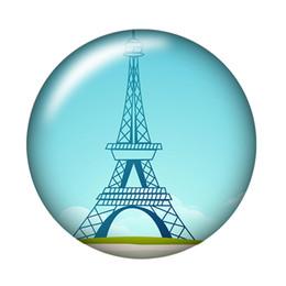 Canada Vente chaude nouvelle arrivée cabochon Mode Tour Eiffel 20pcs 16mm20mm25mm ronde photo cabochon en verre de démonstration démo dos supplier photo eiffel tower Offre