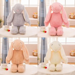 Coelhinho da páscoa on-line-Páscoa mais novo coelho de brinquedo de pelúcia coelho bonito bichos de pelúcia bebê meninas brinquedos 38 CM 48 CM 58 CM 68 CM crianças presentes C5960