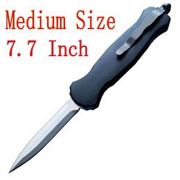 couteau de zinc Promotion 7,7 pouces de taille moyenne 3350 D / A couteau automatique Tactical D2 acier lame Spear Point Zinc aluminium poignée EDC couteaux de poche