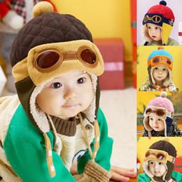2019 cool hiver chapeaux garçons Casquette Aviator Cool Kid Bébé Infantile Garçon Fille Toddler Hat Beanie Earflap Warm Winter cool hiver chapeaux garçons pas cher