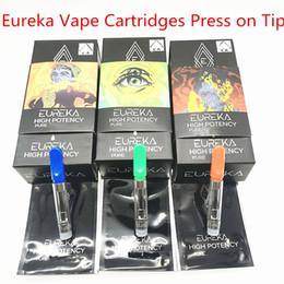 Eureka Cartuchos Vape Vape Pen Atomizadores Bobina De Cerâmica 0.8 ml 1.0 ml 3 Sabores Tanque Vazio 1.8mm * 4 Espesso Vaporizador De Óleo E-cigarros de Fornecedores de bateria net