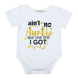 Pantalones cortos de escalada online-Baby Girl Letter Jumpsuit Baby Infant Designer Designer Newborn Baby Girl Clothes Escalada Impresión de manga corta de algodón Mamelucos 19
