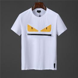 2019 abbigliamento sportivo 2019 The New Summer Leisure Magliette Per Uomo Lettera T Shirt Ricamata Abbigliamento Uomo Marca Manica Corta Maglietta Top M-3XL sconti abbigliamento sportivo